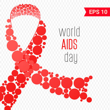 World AIDS day in December 1 Vector illustration Illustration
