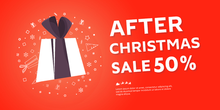 After Christmas sale banner.