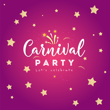 Carnival Concept Banner with on shiny background.  Fat Tuesday Vettoriali