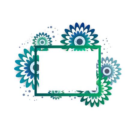 Papierkunst schnitzen vom Blumenvektor einladen Karte. Kreative zarte Hochzeitseinladungsvorlagen