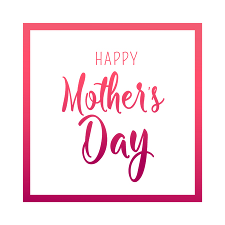 Happy Mother Day. Bright poster with decor