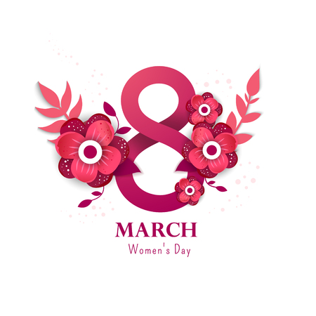 International women's day Design Template 矢量图像