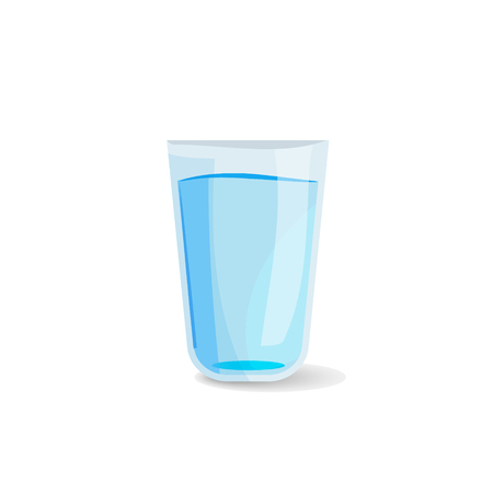Glass of water icon vector illustration