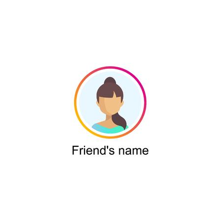 Follower notification on Social media icon user.