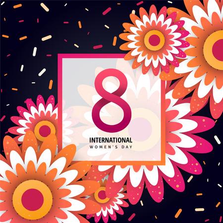 International women's day greeting poster.