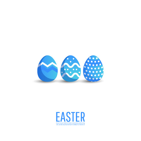 Easter sale banner background template with modern colorful eggs.