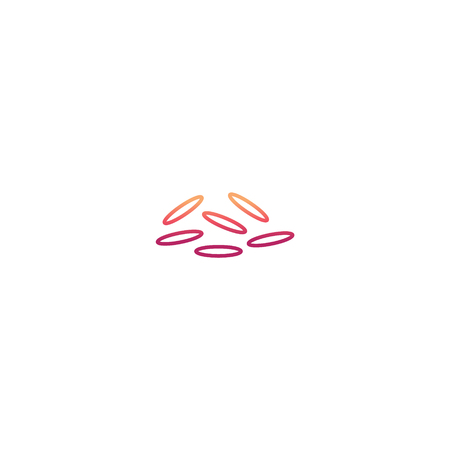 Japanese  rice icon in trendy line flat style isolated