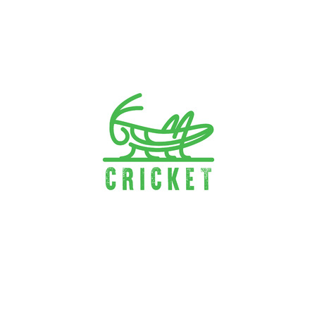 Logo Grasshopper, cricket insect logo  Geometric figure.
