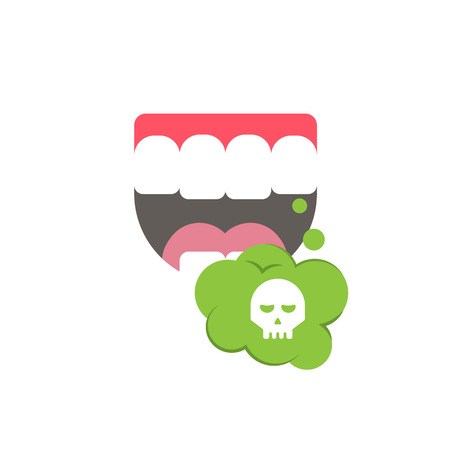 Cartoon Bad smells, stench aroma. Toxic, deadly gas. Vector illustration