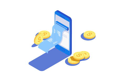 Payment by means of the payments electronic online, smartphone. Receipt of statistics data, notification on financial transaction.