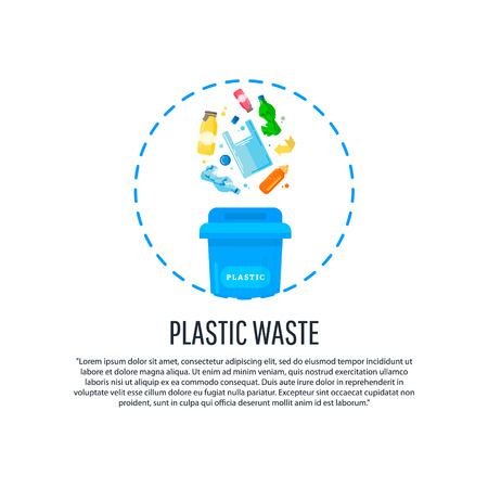Keep clean and garbage sorting concept Gathering, sorting process of garbage. Vektorgrafik