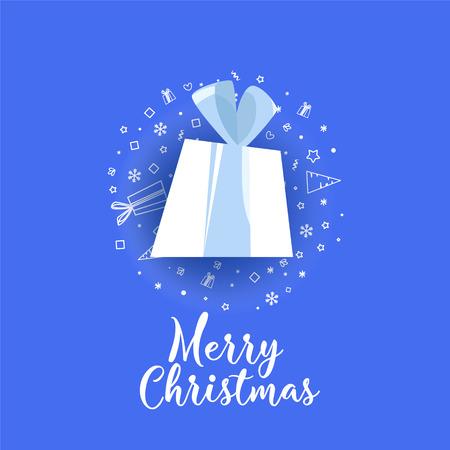 Kerstmis, Nieuwjaar vakantie ontwerpelement. Gebogen, papieren banner, scroll. Vector illustratie.