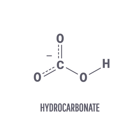 Hydrocarbonate molecule. Chemical compound with the chemical formula HCO3 Imagens - 110234893