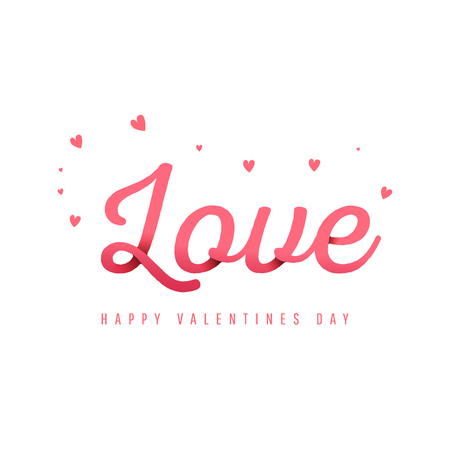 Love calligraphy with shadows. Happy valentines day design with text space. Wallpaper, flyers, invitation, posters, brochure, banners.