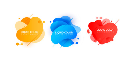 Set of plastic liquid gradient bubbles. Vector design for covers, greeting card, poster or flyers.