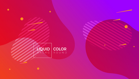Fluid colorful geometric background. Minimal poster