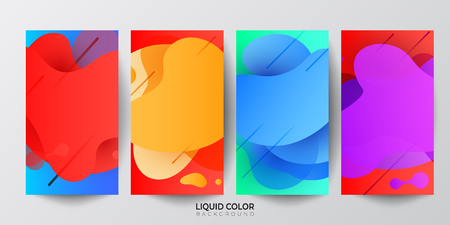 Gradient liquid gradient color abstract geometric shapes background. Design vector for design for mobile