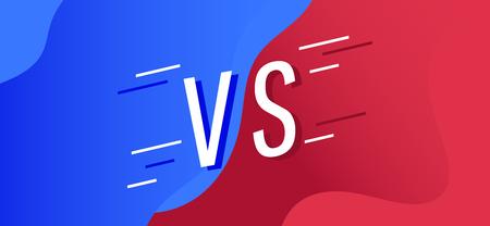 Concept Versus screen. flat modern background battle