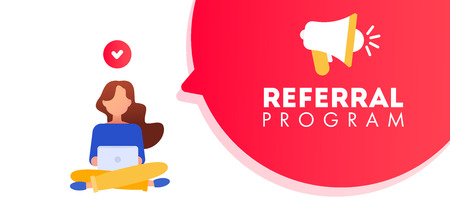 Refer a friend concept. Referral marketing concept, referral program strategy, referring friends, network marketing
