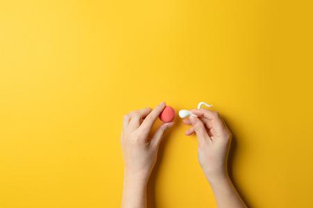 Concept d'insémination artificielle de l'œuf femelle. Grossesse féminine. Recherche médicale