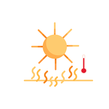 Summer heat. Salvation from the sun. Sun damage