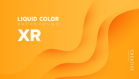 Plastic liquid gradient waves sale banner template