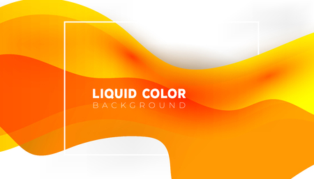 Plastic liquid gradient waves sale banner template. Vector design for covers, greeting card, poster or flyers.