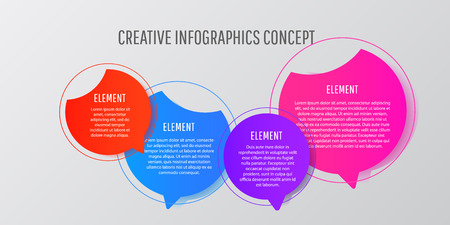 Creative infographic design business circle template with options for brochure, diagram, web design