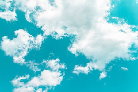Colorful bright blue sky background. Blue sky background with clouds