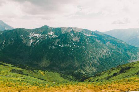 Beautiful view of Zakopane Tatra Mountains Kasprowy Wierch in the summer. Travel and tourism concept. Banco de Imagens