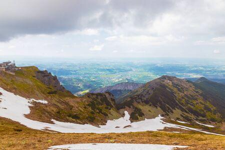Beautiful view of Zakopane Tatra Mountains Kasprowy Wierch in the summer. Travel and tourism concept. Stok Fotoğraf