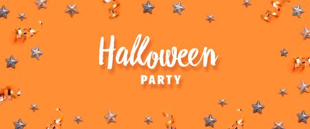 Halloween party greeting card mockup with copy space.