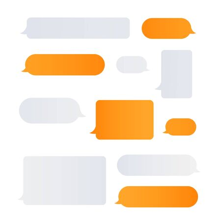 Message bubbles chat vector icons. Chating concept Stok Fotoğraf - 129993110