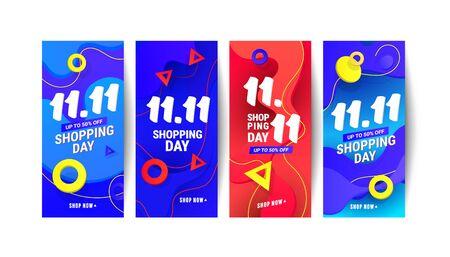 Creative liquid wave gradient design element banners for social networks stories, vector illustration.