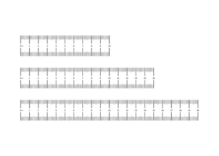 Black measurement scale for linear isolation on a white background. Length measure cm. Vector illustration.