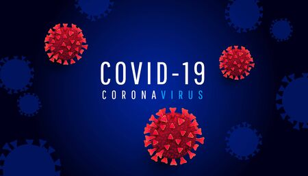 Coronavirus outbreak shades concept. A lot of 3d red virus cell shape on a dark background. Pandemic medical health risk concept