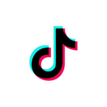 Tik Tok icon symbol. Vector illustration on a white background.