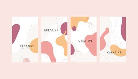 Abstract geometric pattern background texture memphis style for poster cover design. Minimal color gradient banner template.