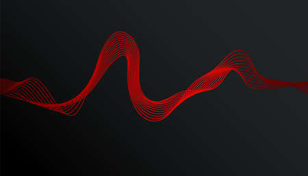 Abstract stylish modern banner design with trendy gradient wave on dark background Ilustração