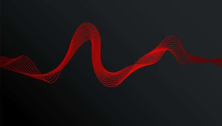 Abstract stylish modern banner design with trendy gradient wave on dark background 向量圖像