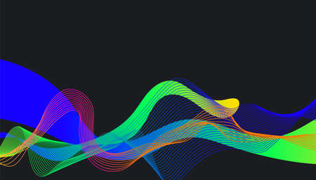 Glowing abstract flowing line waves curves background design