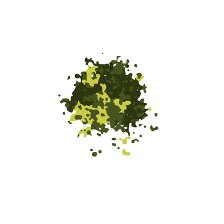 Matcha powder green tea isolated on a white background. Vector illustration, minimal style