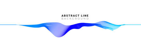 Stylish abstract fluid line sound wave on white background. Vector illustration.