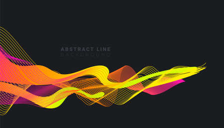 Abstract background with flowing multicolored line shapes design. Fluid gradients for banners, posters, covers.