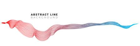 Technology digital stylish design with trendy rainbow wave background for design brochure, website, flyer. Çizim