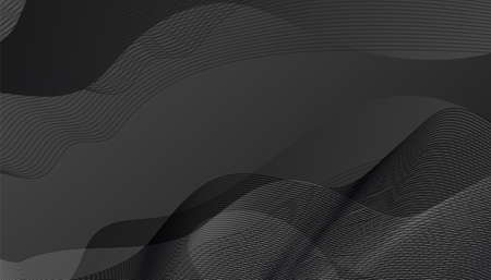 Minimal abstract speed grey line wave background. Vector illustration for minimalistic design with empty space for text Çizim