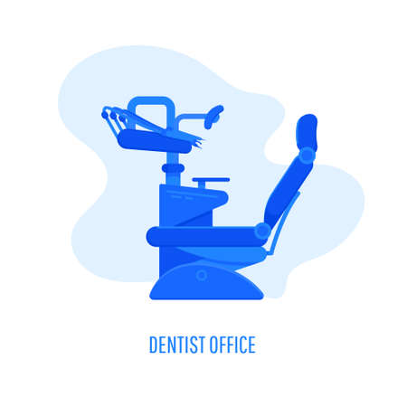 Dentist chair, orthodontics icon. Dental care equipment sign. Health care for dentistry clinic. Vector illustration