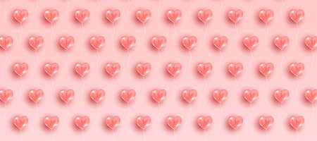 Valentine's day pattern background with hearts. Wallpaper, flyers, invitations, posters, brochure, banners Vector illustration