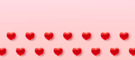 Valentines day sale background with air foil red balloons hearts pattern. Wallpaper, flyers, invitations, posters, brochures, banners. Vetores