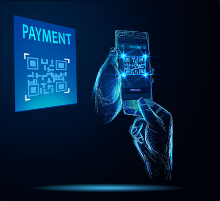 Digital pay without money, using for mobile phone application to scan QR
